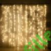 Kép 1/6 - Led fényfüggöny 400 Led-es, 2x2 méter, meleg fehér