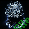 Kép 2/8 - Napelemes 200 LED-es hideg fehér dekorációs fényfüzér, kerti égősor