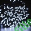 Kép 1/9 - Napelemes 100 LED-es hideg fehér dekorációs fényfüzér, kerti égősor