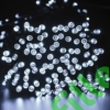 Kép 1/9 - Napelemes 300 LED-es hideg fehér dekorációs fényfüzér, kerti égősor