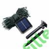 Kép 8/8 - Napelemes 100 LED-es kék dekorációs fényfüzér, kerti égősor