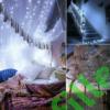 Kép 7/9 - Napelemes 300 LED-es hideg fehér dekorációs fényfüzér, kerti égősor
