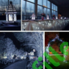 Kép 6/9 - Napelemes 100 LED-es hideg fehér dekorációs fényfüzér, kerti égősor