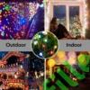 Kép 6/9 - Napelemes 300 LED-es színes dekorációs fényfüzér, kerti égősor
