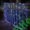 Kép 3/9 - Napelemes 300 LED-es hideg fehér dekorációs fényfüzér, kerti égősor