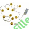 Kép 6/6 - Arany gömb LED fényfüzér