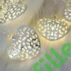 Kép 4/6 - Arany szív LED fényfüzér