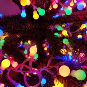480 Led-es Karácsonyi petárda fényfüzér, színes, 8 programos