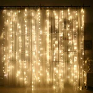 Led fényfüggöny 400 Led-es, 2x2 méter, meleg fehér