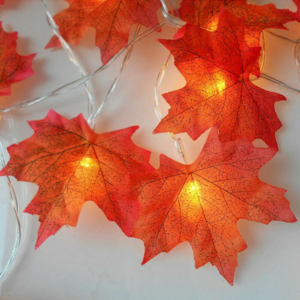 Elemes 40 LED-es Juharfa levél fényfüzér