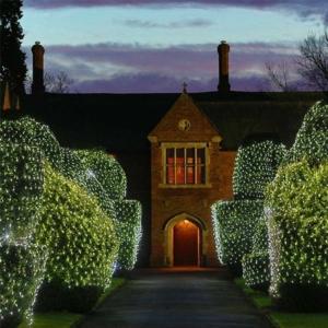 200 izzós hideg fehér LED fényháló, 8 programos