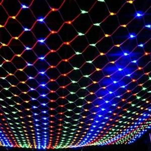 200 izzós színes LED fényháló, 8 programos