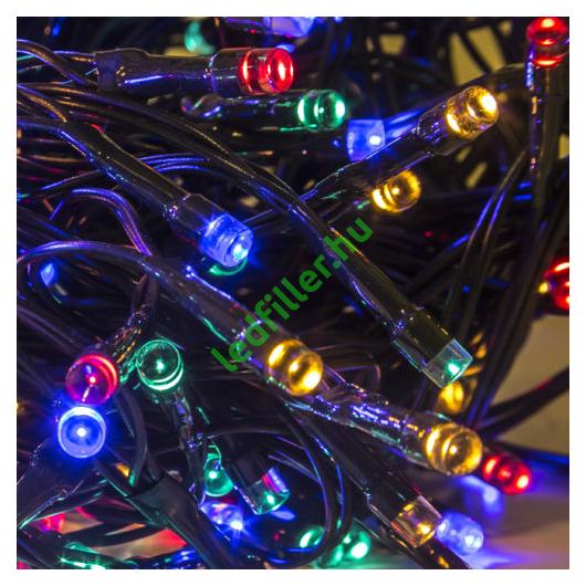 Beltéri led fényfüzér, 200 égős, színes, 8 programos
