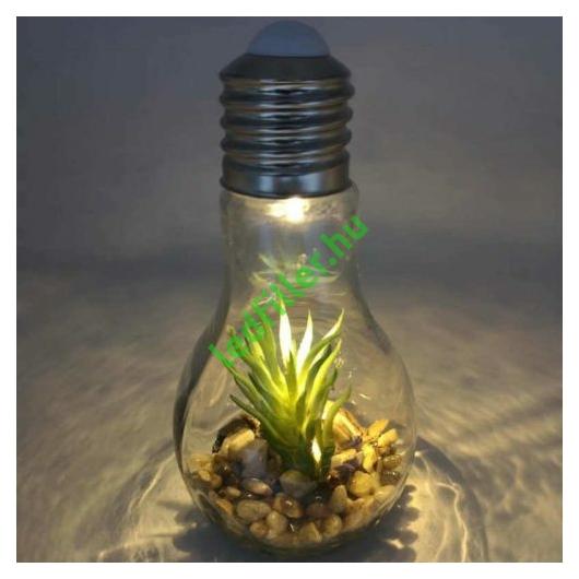 Világító Led növénydekorációval, elemes
