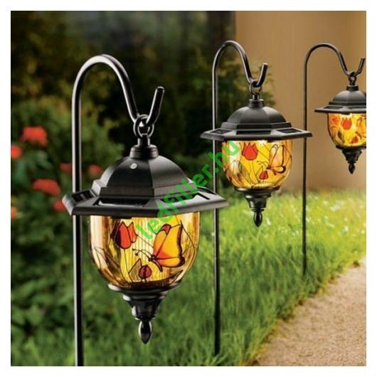 Kerti napelemes Tiffany függő lámpa, 2 db -os készlet