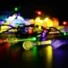 Kép 2/11 - Napelemes LED fényfüzér, vízcsepp alakú, színes, 8 funkciós, kültéri