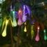 Kép 3/11 - Napelemes LED fényfüzér, vízcsepp alakú, színes, 8 funkciós, kültéri