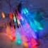 Kép 7/11 - Napelemes LED fényfüzér, vízcsepp alakú, színes, 8 funkciós, kültéri