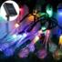 Kép 4/11 - Napelemes LED fényfüzér, vízcsepp alakú, színes, 8 funkciós, kültéri