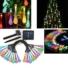 Kép 8/11 - Napelemes LED fényfüzér, vízcsepp alakú, színes, 8 funkciós, kültéri