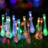 Kép 5/11 - Napelemes LED fényfüzér, vízcsepp alakú, színes, 8 funkciós, kültéri