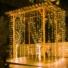 Kép 5/6 - Led fényfüggöny 400 Led-es, 2x2 méter, meleg fehér