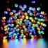 Kép 3/9 - Napelemes 50 LED-es színes karácsonyi fényfüzér, kerti égősor