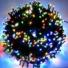 Kép 1/9 - Napelemes 200 LED-es színes karácsonyi fényfüzér, kerti égősor