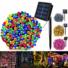 Kép 4/9 - Napelemes 50 LED-es színes dekorációs fényfüzér, kerti égősor