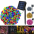 Kép 4/9 - Napelemes 300 LED-es színes dekorációs fényfüzér, kerti égősor
