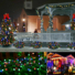 Kép 5/9 - Napelemes 50 LED-es színes karácsonyi fényfüzér, kerti égősor
