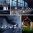 Kép 5/8 - Napelemes 200 LED-es hideg fehér dekorációs fényfüzér, kerti égősor