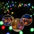 Kép 7/9 - Napelemes 50 LED-es színes dekorációs fényfüzér, kerti égősor
