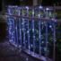 Kép 3/9 - Napelemes 100 LED-es hideg fehér karácsonyi fényfüzér, kerti égősor
