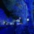 Kép 4/8 - Napelemes 100 LED-es kék dekorációs fényfüzér, kerti égősor