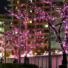 Kép 3/6 - Napelemes 50 LED-es rózsaszín karácsonyi fényfüzér, kerti égősor