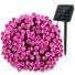 Kép 2/6 - Napelemes 100 LED-es rózsaszín karácsonyi fényfüzér, kerti égősor