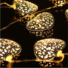 Kép 2/6 - Arany szív LED fényfüzér