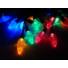 Kép 6/7 - Napelemes LED fenyőtoboz 50 led-es fényfüzér, színes