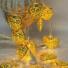 Kép 5/6 - Arany szív LED fényfüzér