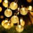 Kép 1/8 - Napelemes Led fényfüzér,  esőcsepp alakú, színes