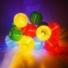 Kép 8/8 - Napelemes 10 Led-es  színes Lampion fényfüzér