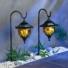 Kép 6/7 - Kerti napelemes Tiffany függő lámpa, 2 db -os készlet