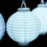Kép 2/9 - Világító led lampion 20 cm-es, 2 db elemmel, 10 db készlet