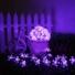 Kép 1/8 - Napelemes Led cseresznyevirág fényfüzér, lila színű, kültéri