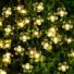Kép 1/7 - Napelemes Led cseresznyevirág fényfüzér, melegfehér, kültéri