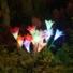 Kép 1/4 - Lily napelemes kerti lámpa  piros színvilág