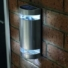 Kép 1/2 - Napelemes led fali világítás rozsdamentes acél